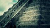 Chichen Itza Mexico Yucatan Kukulcan Pyramid 47 stylized Footage