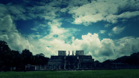 Chichen Itza Mexico Yucatan 51 stylized Stock Video Footage