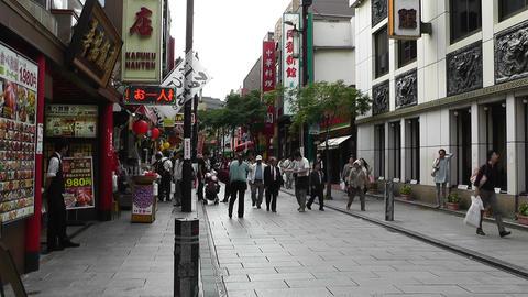 China Town in Yokohama Japan 01 Stock Video Footage