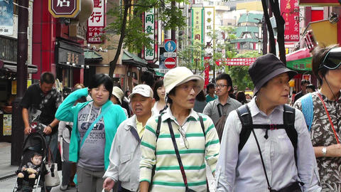 China Town in Yokohama Japan 05 Stock Video Footage
