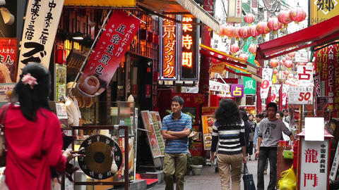 China Town in Yokohama Japan 07 Stock Video Footage
