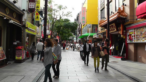 China Town in Yokohama Japan 11 Stock Video Footage