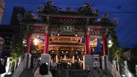 Chinese Shrine in Yokohama Chinatown Japan Stock Video Footage