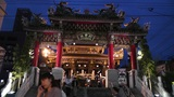 Chinese Shrine in Yokohama Chinatown Japan Footage