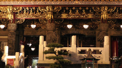 Chinese Shrine in Yokohama Chinatown Japan 03 Stock Video Footage