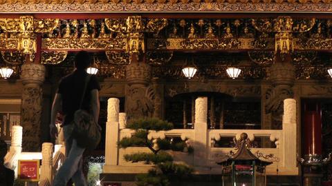 Chinese Shrine in Yokohama Chinatown Japan 03 Footage