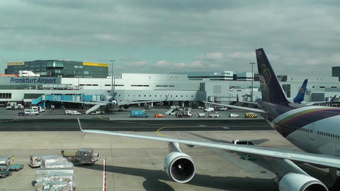 Frankfurt International Airport Germany 02 Stock Video Footage