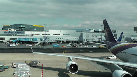 Frankfurt International Airport Germany 02 Stock Video Footage