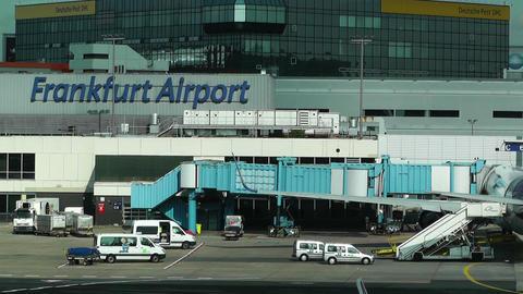 Frankfurt International Airport Germany 04 Stock Video Footage