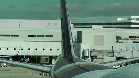 Frankfurt International Airport Germany 06 Stock Video Footage