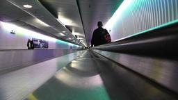 Frankfurt International Airport Germany 08 tunnel Stock Video Footage