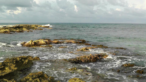 Waves and Rocks 03 Stock Video Footage