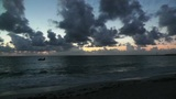 Sunrise over the Caribbean 02 pan Footage