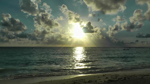 Sunrise over the Caribbean 04 Stock Video Footage