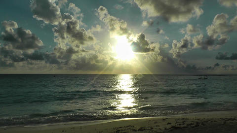 Sunrise over the Caribbean 04 Footage