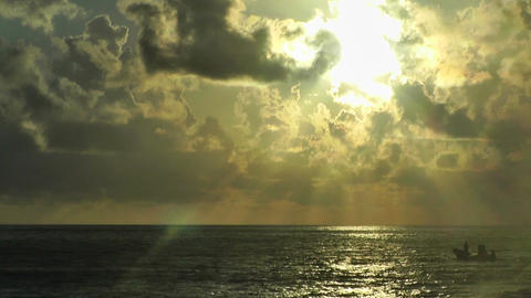 Sunrise over the Caribbean Timelapse 02 Stock Video Footage