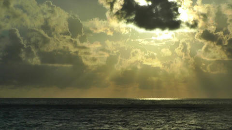Sunrise over the Caribbean Timelapse 02 Footage