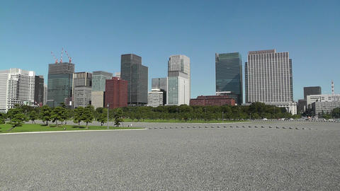 Tokyo City View from the Imperial Palace Japan 01 Stock Video Footage