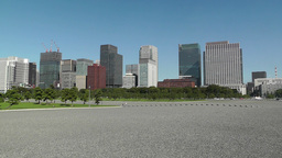 Tokyo City View from the Imperial Palace Japan 01 Footage