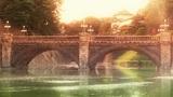 Tokyo Imperial Palace Japan Nijubashi Bridge 02 stylized Footage