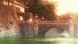 Tokyo Imperial Palace Japan Nijubashi Bridge 03 stylized Footage