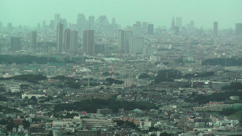 Tokyo View from Yokohama Stock Video Footage