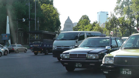 Tokyo Street at the Imperial Palace Stock Video Footage