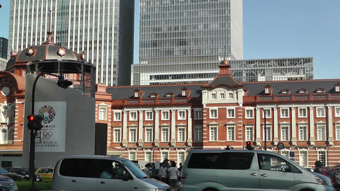 Tokyo Station Japan 12 pan Stock Video Footage