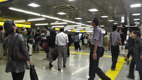 Tokyo Station Subway Japan 01 Stock Video Footage