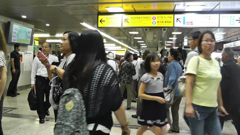Tokyo Station Subway Japan 03 Stock Video Footage