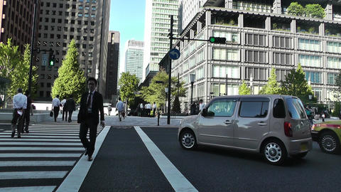 Tokyo Street at Tokyo Station Japan Stock Video Footage