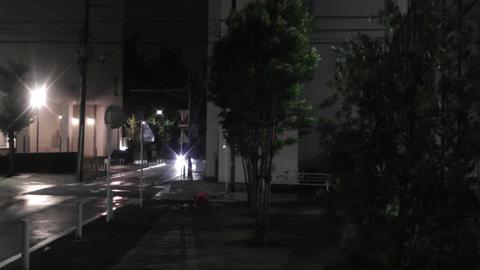 Typhoon in Yokohama Japan 04 handheld Stock Video Footage