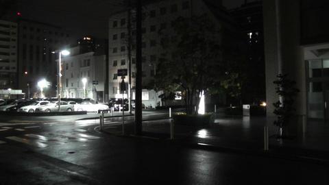 Typhoon in Yokohama Japan 06 handheld Stock Video Footage