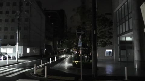 Typhoon in Yokohama Japan 08 handheld Stock Video Footage