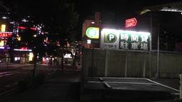Typhoon in Yokohama Japan 10 handheld Stock Video Footage