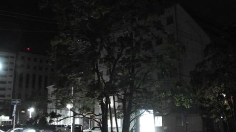 Typhoon in Yokohama Japan 14 handheld Stock Video Footage