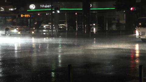 Typhoon Prewind in Yokohama Japan 03 handheld Stock Video Footage