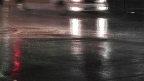 Typhoon Prewind in Yokohama Japan 05 handheld Stock Video Footage
