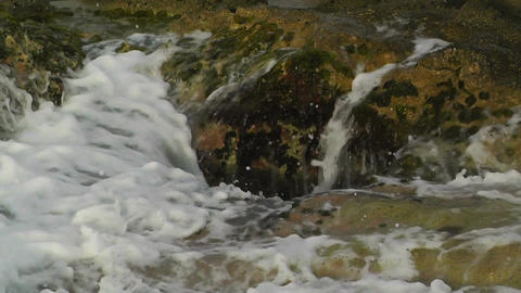 Waves and Rocks 02 Stock Video Footage