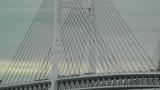 Yokohama Japan Metropolitan Expressway Bridge over the Bay Footage