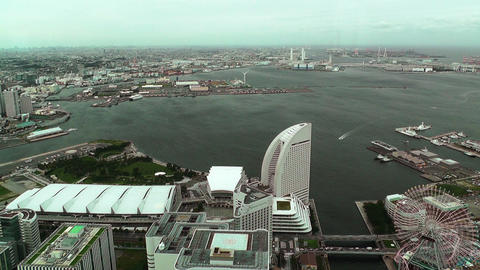 Yokohama Aerial Japan Stock Video Footage