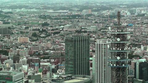 Yokohama Aerial Japan 09 Stock Video Footage