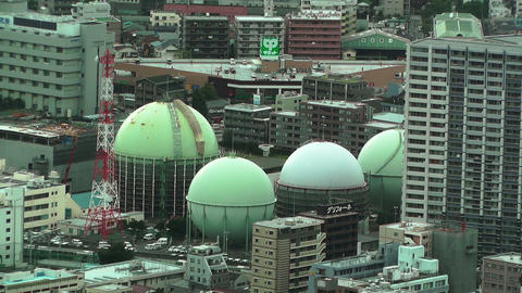 Yokohama Aerial Japan 14 Stock Video Footage