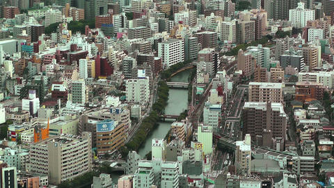 Yokohama Aerial Japan 16 Stock Video Footage