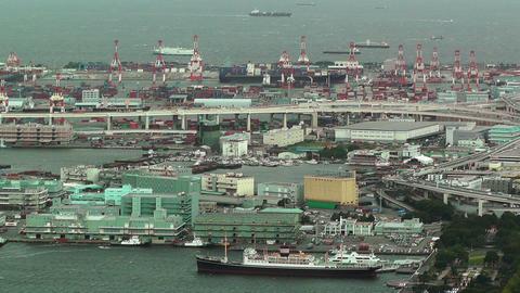 Yokohama Aerial Japan 22 Stock Video Footage