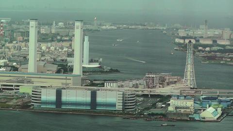 Yokohama Aerial Japan 24 Stock Video Footage