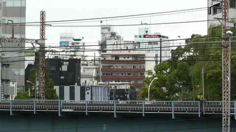Yokohama Commuter Train Japan Stock Video Footage