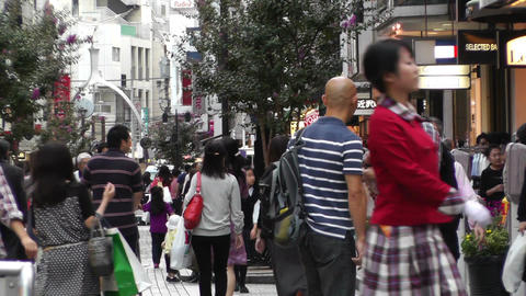 Yokohama Shopping Street Japan 02 Stock Video Footage
