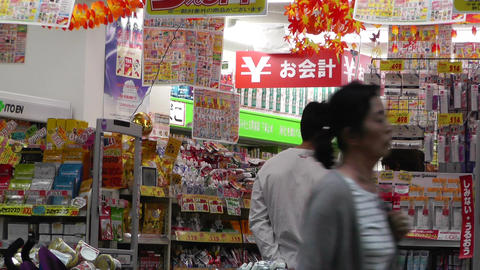 Yokohama Chinatown Japan 24 store Stock Video Footage