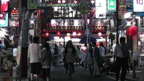 Yokohama Chinatown Street Japan 26 night Stock Video Footage